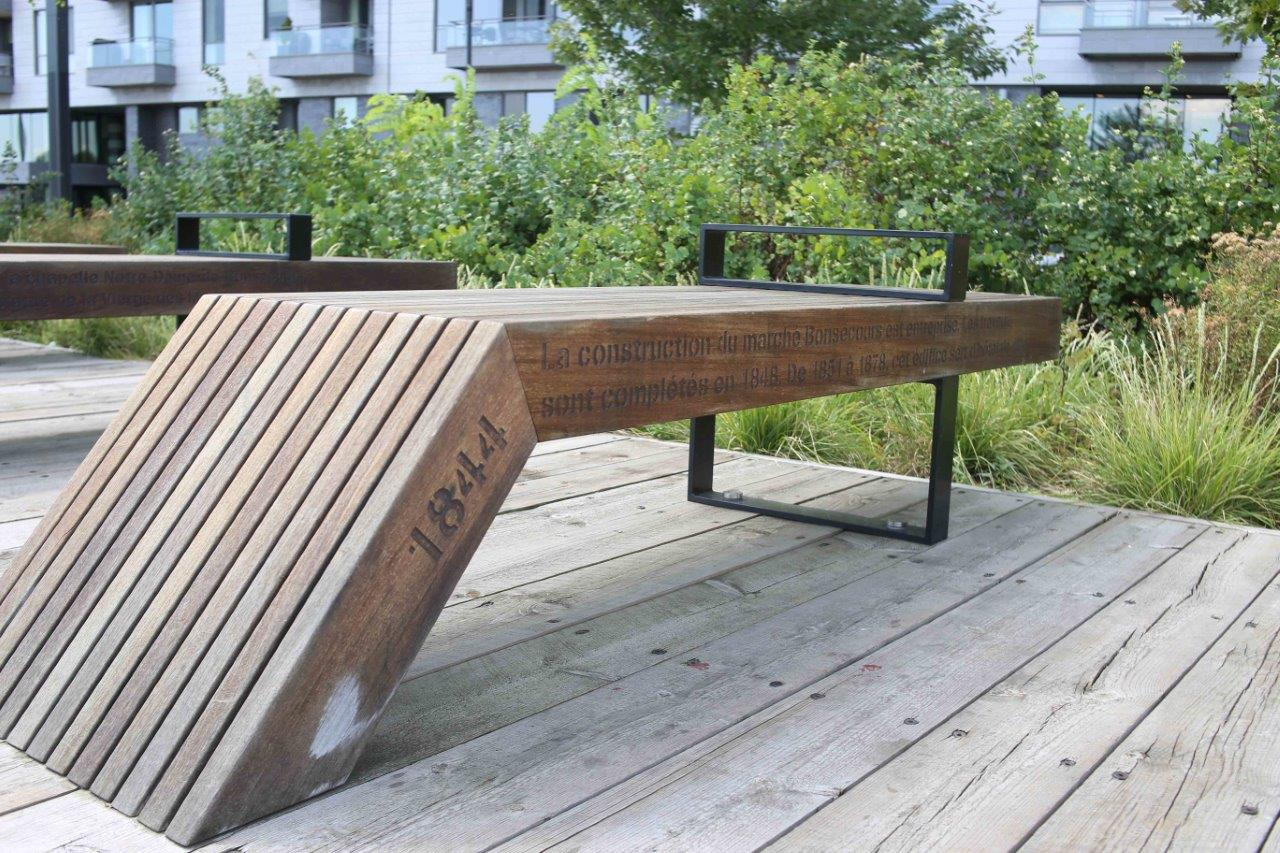 Montreal Old Port bench