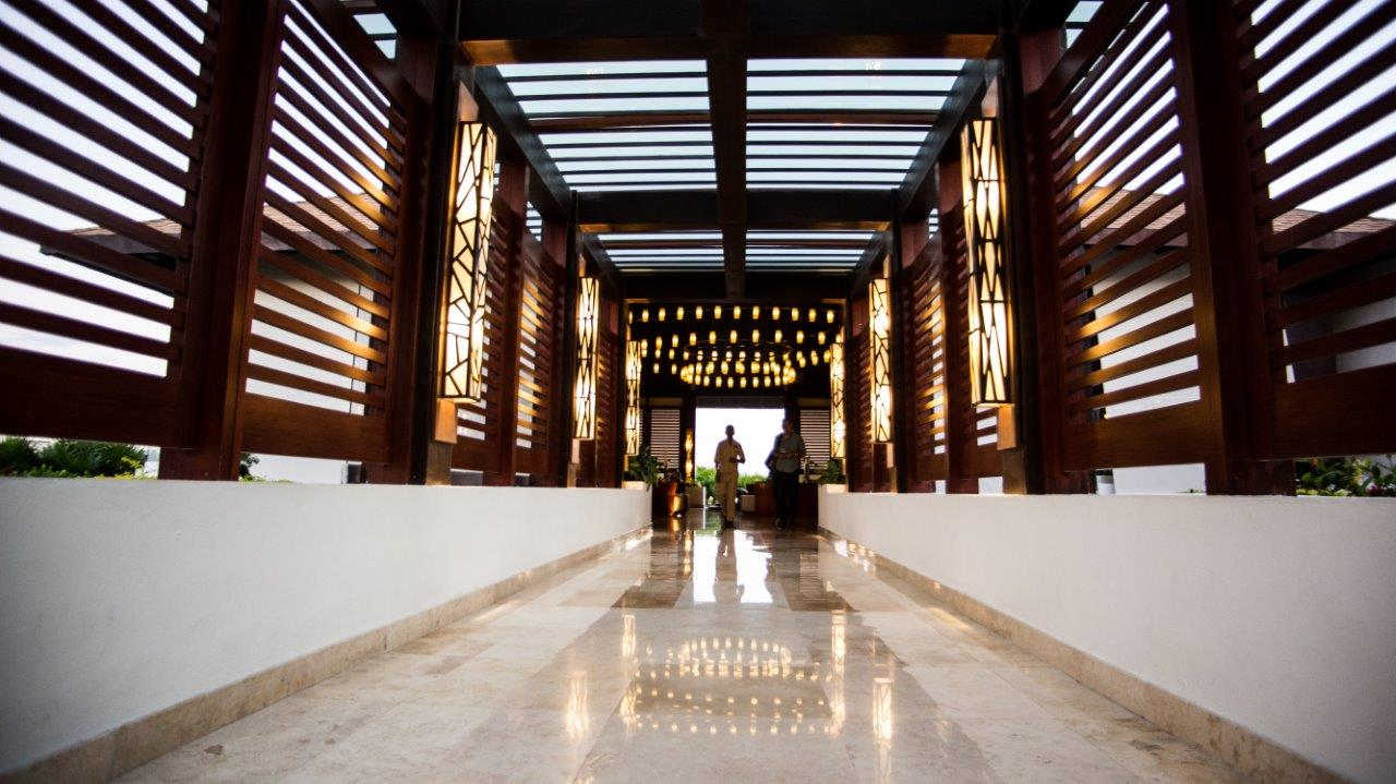 A large empty hall in a Cancun Resort