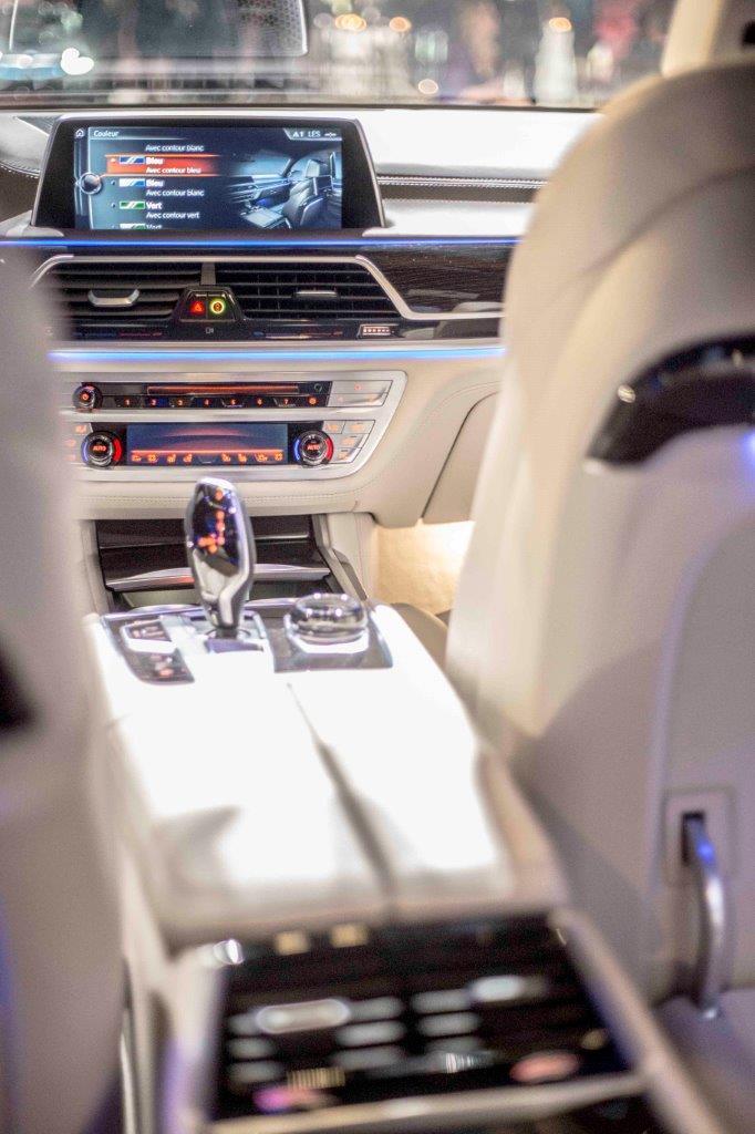 Inside of a BMW car