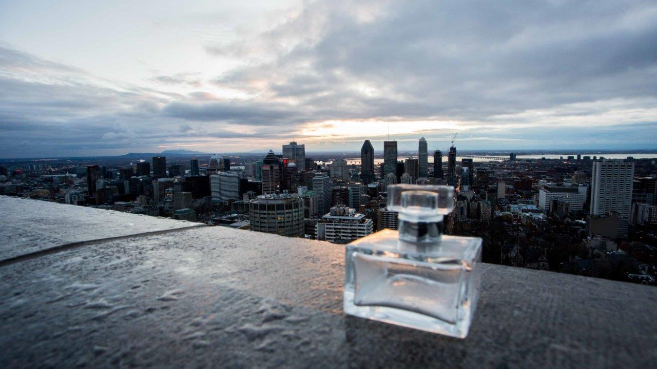 Parfum Joseph parfum bottle on the Mont-Royal