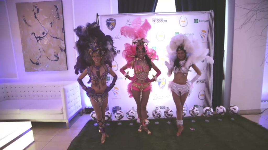A group of Brazilian dancer posing for the camera