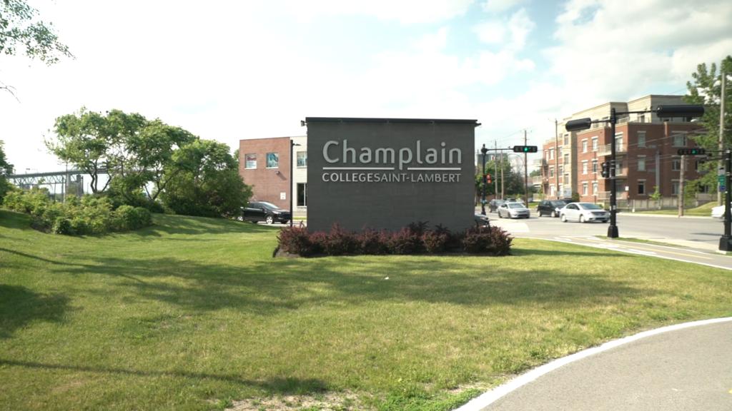 Sign of Champlain College Saint-Lambert campus
